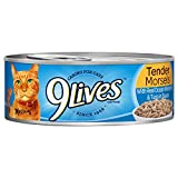 9Lives Tender Morsels With Real Ocean Whitefish & Tuna In Sauce Wet Cat Food, 5.5Oz Cans (Pack Of 24)