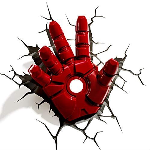 LED Creativo Avengers Night Light Capitano Shield Spider-Man Iron Man Guanti Maschera Thor Thor...