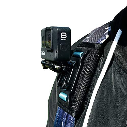 SUREWO - Supporto per zaino con tracolla per GoPro Hero 9/8/7/6/5/4, DJI Osmo Action, Insta360 ONE R, AKASO/Crosstour/Campark/APEMAN e la maggior parte delle fotocamere d'azione
