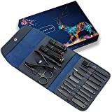 Manicure Set Men Travel, Gifts for Men, Anniversary, Christmas, Birthday, Married Couples Anniversary, Stocking Stuffers, PU Leather