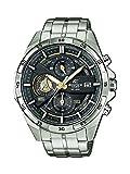 Casio EDIFICE Reloj en caja sólida, 10 BAR, Dorado/Negro, para Hombre, con Correa de Acero...