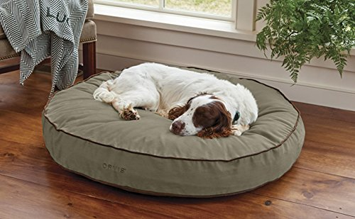 Orvis Comfortfill-eco Round Dog's Nest/Large Dog Bed - Dogs 45-70 Lbs, Aloe