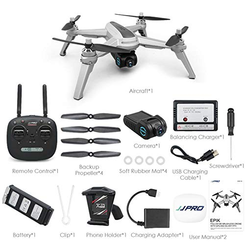 Zezego Drone Di Aerei Telecomandati - JJPRO X5 Mini RC Drone Elicottero GPS Posizionamento Del Motore Brushless 1080PWIFI Telecamera 4CH 6 Assi Giroscopio Quadcopter Con Quota Di Quota