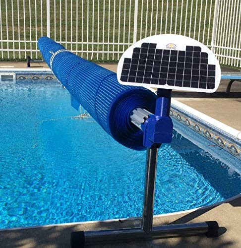 Automatic Solar Blanket Cover Reel / Roller - Remote Controlled, Solar Battery Powered, Motorized Units for up to 20x40' Rectangular in-ground Swimming Pools .