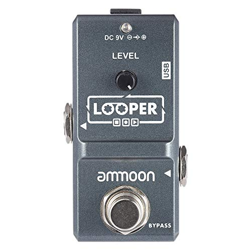 ammoon AP-09 Nano Loop Electric Guitar Effect Pedal Looper True Bypass Unlimited Overdubs 10 Minutes Recording