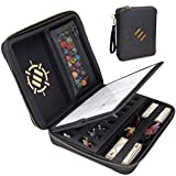 ENHANCE Tabletop RPG Organizer Case - DnD Organizer with Built-in Character Sheet Holder and...