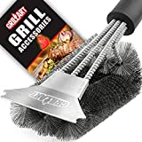 Grill Brush and Scraper - Extra Strong BBQ Cleaner Accessories - Safe Wire Bristles 18' Stainless...