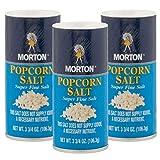 Morton Popcorn Salt Shaker Bulk Popcorn Seasoning Set 3.75oz Super Fine Salt Grocery Kitchen Supplies