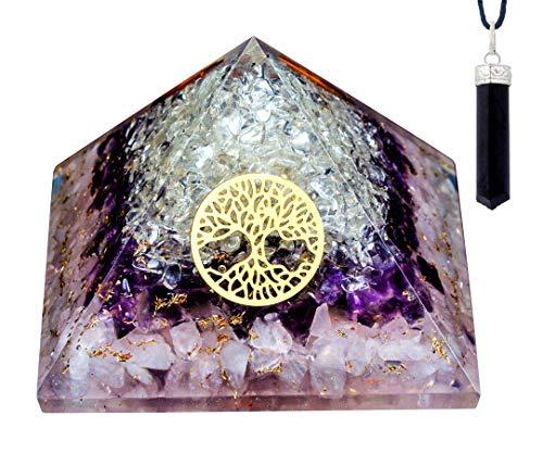 Orgone Pyramid Rose Amethyst Crystal Orgone Pyramid Energy...