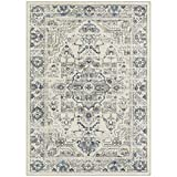 Maples Rugs Distressed Tapestry Vintage Area Rugs Carpet for Living Room & Bedroom [Made in USA], 5 x 7, Neutral