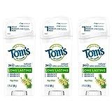 Tom's of Maine Natural Long Lasting Deodorant Multi Pack, Aluminum Free Deodorant, Natural Deodorant, Tea Tree, 2.25 Ounce, 3-Pack