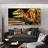 wZUN Carteles e Impresiones Arte de la Pared Pintura de la Lona decoración de la Pared Imagen Abstracta de Tyrannosaurus Rex para la decoración de la Pared de la Sala de Estar 50x100cm