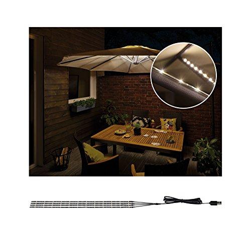 Paulmann 942.08 Luce Outdoor Mobile Parasol di Lighting Ip443000K Lampada Per Ombrellone 4 x 0.4M...
