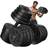 MOVTOTOP Adjustable Dumbbells Set 5/10/15/20/33/44/66 lbs, Solid&Non-Slip Weights Dumbbells with Easy-Adjusting Hexagon Nut-Safe for Men and Women Gym Home Workout Training