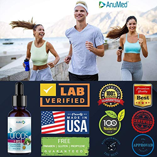 Anumed e-drops+B12 Premium Fast Fat Burner| Metabolism & Energy Booster | Control Hunger | Super Fast Transformation Healthy Weight Loss Drops | All Natural Vegan & Keto Friendly for Women & Men (2oz) 3
