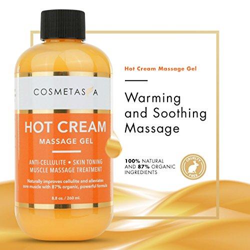 Anti-Cellulite Massage Oil, Gel & Mitt - 100% Natural Cellulite Treatment with Hot Cream Massage Gel, Oil & Massager - Penetrates Skin to Break Down Fat Tissue - Firm, Tone, Tighten & Moisturize Skin 6