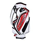 AW Waterproof Golf Carry Bag 18x10x51' 5-Way 9 Pockets for Male Adult Golf Accessory Sport
