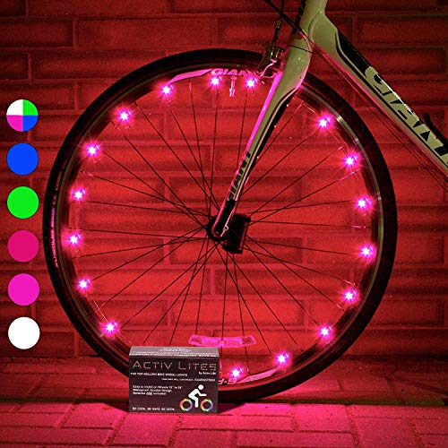 Active Life Bike Wheel Lights (2 Tires, Pink) Top Birth Day Gifts for Women & Christmas 2019 Presents for Girls. Best Unique Valentines Gifts for Her Wife Mom Friend Sister Girlfriend & Popular Aunts
