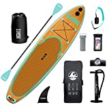 DAMA 10'6'x32'x6' Inflatable Stand Up Paddle Board, Yoga Board, Camera Seat, Floating Paddle, Double Action Hand Pump, Board Carrier, Waterproof Bag, Drop Stitch, Traveling Board for Surfing