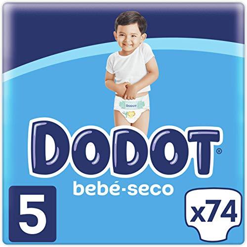 Dodot Bebé-Seco Pañales Talla 5, 74 Pañales, 11-16kg, Has