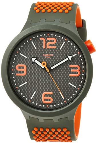 Swatch Herren Analog Quarz Uhr mit Silikon Armband SO27M101