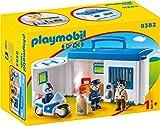 PLAYMOBIL 1.2.3 Comisaría Policía Maletín, a Partir de 1.5 Años (9382)