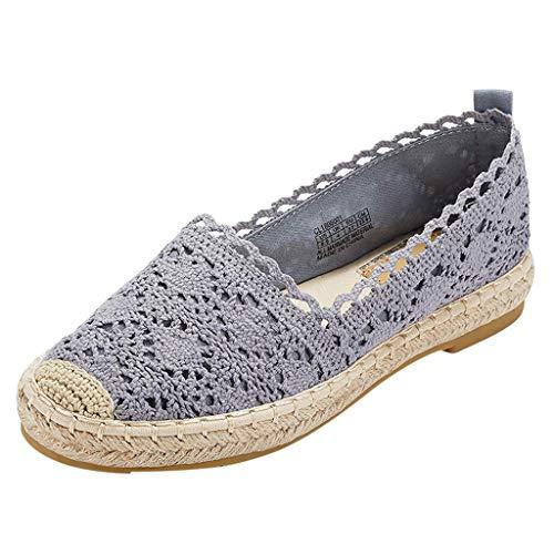 Luckycat Zapatos Alpargatas Mujer Ocasionales Loafer Zapatos Moda Planos Alpargatas Alpargatas Clásica Lona Mujer Zapatillas Slip-on práctico cómodo comode Mujer Brillantes básica Paja tacón Plano