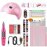YENJO Practical Portable UV Lamp LED Dry Nail Kit Nail Art Manicure Set Acrylic Nail Tools