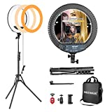 Neewer Kit cámara Photo Studio 18' Exterior 14' Interior 600W 5500K Anillo Regulable Fluorescente...