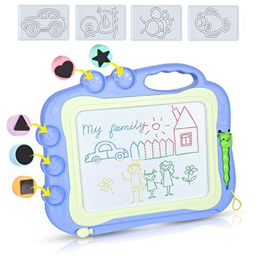 DUTISON Lavagna Magnetica per Bambini 4 Colori Tavola da Disegno Cancellabile Lavagnetta Magica con...