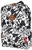 Vadobag Disney Fashion Mickey Mouse Sac à dos pour enfant Noir et blanc