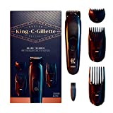 King C. Gillette Cordless Men's Beard Trimmer Kit with 3 Interchangeable Combs
