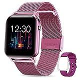 GOKOO Smartwatch Damen Frauen 1.4inch Zoll IPS HD-Touchscreen Fitness Tracker IP68 Wasserdicht SpO2 Stoppuhr schrittzähler Armbanduhr mit Schlafmonitor Pulsuhr Musiksteuerung Uhren für iOS Android