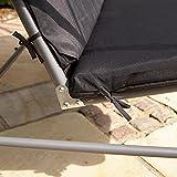 Kingfisher 2-Sitzer Hollywoodschaukel mit Dach (Einheitsgröße) (Schwarz) - 5