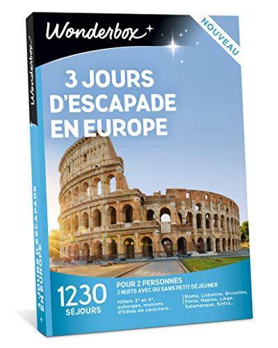 Wonderbox - Coffret cadeau - 3 JOURS D'ESCAPADE EN EUROPE - 1230 séjours...