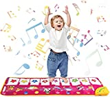 Piano Mat Music Dance Mat 39'' x 14'' Piano Keyboard Mat Foot Musical Keyboard Play Mat with 8 Animal Sounds Musical Touch Play Game Gifts for Kids Toddlers Girls Boys