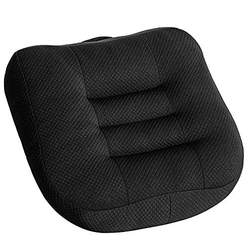 Cuscino per sedia da ufficio, 40 x 40 cm, ergonomico, per tavolo da pranzo, sedia a rotelle, sedia da giardino, divano, cuscino per schienale, colore nero