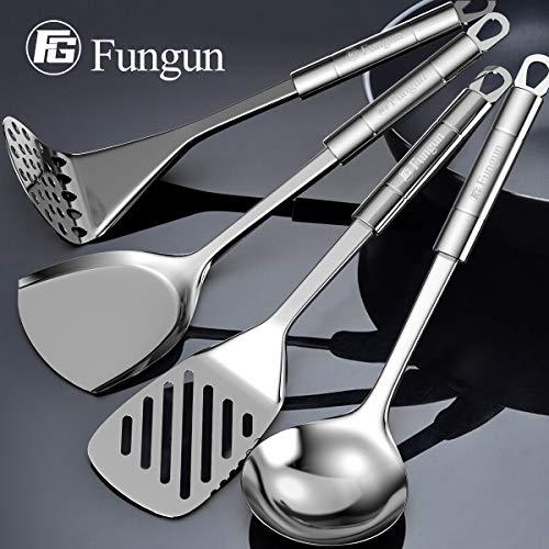 Product Image 4: Stainless Steel Kitchen Utensil Set- Fungun 28 Pcs Cooking Utensils - Nonstick Kitchen Utensils <a href=