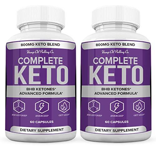 (2 Pack) Complete Keto Pills 800mg, Keto Complete Diet Pills Capsules BHB Supplement, Complete Ketogenic Diet for Beginners, BHB Ketones Slim Pills for Energy, Focus - Exogenous Ketones for Men Women 1