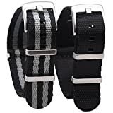 Buy multiple and swap bands daily in seconds to compliment your wardrobe.Classic nylon watchband, gorgeous vitality for a variety of style, shopping, outings, parties, workplace, different color patterns fit with your unique temperament. THE SUPERIOR...
