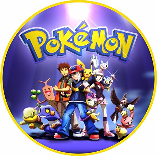 Cialda Tonda In Ostia Pokemon Decorazioni Torta Compleanno Dischi Commestibile