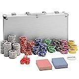 tectake 402557 Mallette de Poker avec Laser Jetons, Coffret de Poker...