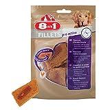 8in1 Fillets Pro Active Hähnchensnack, funktionale Leckerlies für Hunde,  verschiedene Sorten, 4er Packs (4 x 80 g) - 5