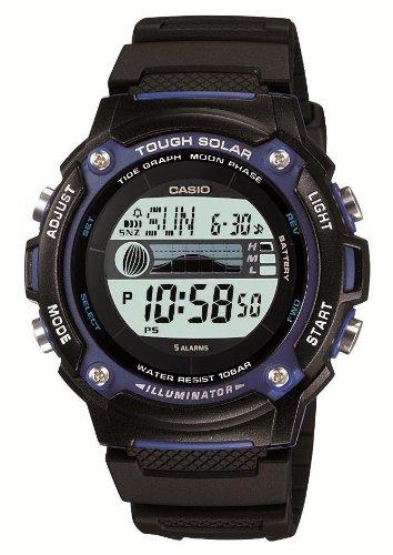 [カシオ] 腕時計 スポーツギア タイドグラフ ソーラー W-S210H-1AJF ブラック