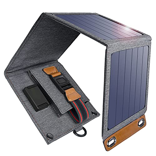 Caricabatterie Solare da 14W Portatile e...