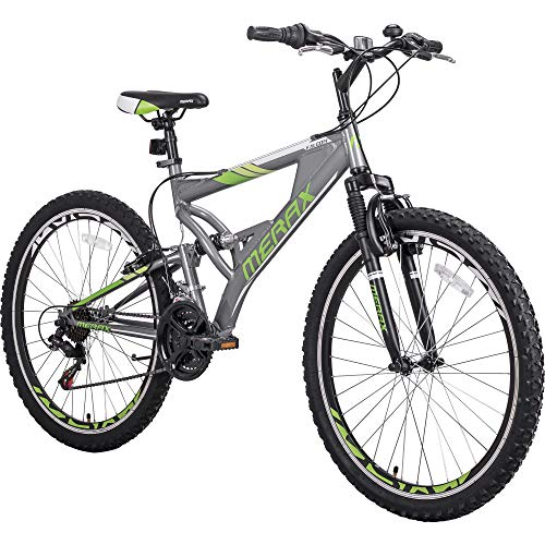 Merax FT323 Mountain Bike 21 Speed Full Suspension Aluminum Frame MTB Bicycle - 26 inch