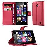 Cadorabo Coque pour Nokia Lumia 630/635 en Rouge Cerise - Housse Protection...