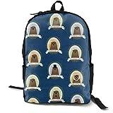 Mochila multiusos Sushi Time Nom Nom para ordenador portátil, con correas ajustables para el hombro, mochila elegante para la escuela universitaria, color azul