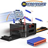 MASCARRY Electric Scoring Target Running Auto Reset Shooting Digital Target for Nerf Guns Blaster Elite/Mega/Rival Series with 20 Pcs Refill Darts, Ideal Gift Toys for Kids, Teens, 2019 New Version