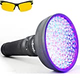 uvBeast VERSION 2 - Black Light UV Flashlight with HIGH DEFINITION 100 LED with Flood Effect 385-395nm UV Best for Commercial/Domestic Use Works Even in Ambient Light – USA Stock – UK Design